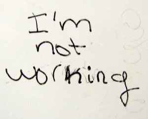 I'm not working by quinn.anya via Flickr