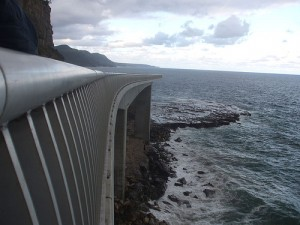 Sea Cliff Bridge Water by Jon... in 3D via Flickr
